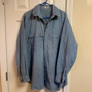 Columbia double pocket light weight denim shirt